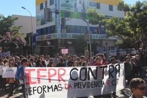 As reformas do Governo Temer foram os alvos das manifestações - foto APP-Sindicato-Foz