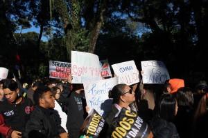 Estudantes de várias instituições participaram do ato - foto APP-Sindicato-Foz