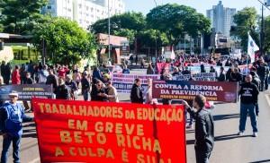 Mobilização reforça a unidade dos trabalhadores contra as reformas - foto Marcos Labanca