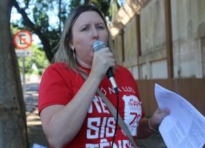 Cátia Castro, presidenta do Núcleo Sindical - foto APP-Sindicato-Foz