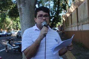 Silvio Borges, secretário executivo de Saúde e Previdência do Núcleo Sindical - foto APP-Sindicato-Foz