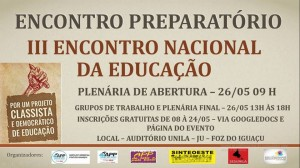Flyer do Encontro Nacional de Educação