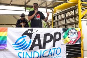 Diego Valdez, presidente da APP-Sindicato-Foz - foto Marcos Labanca-Arquivo