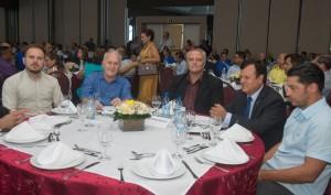 Representantes do Poder Público e do trade turístico de Foz no evento da Contratuh - foto Marcos Labanca