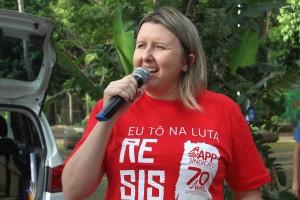 Cátia Castro, presidenta da APP-Sindicato-Foz - foto Divulgação-Arquivo