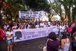Concentração da Marcha das Mulheres em Foz será no Bosque Guarani - foto Marcos Labanca