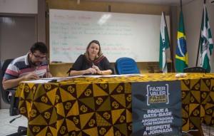 Cátia Castro e Silvio Borges, dirigentes da APP-Sindicato-Foz - foto Marcos Labanca