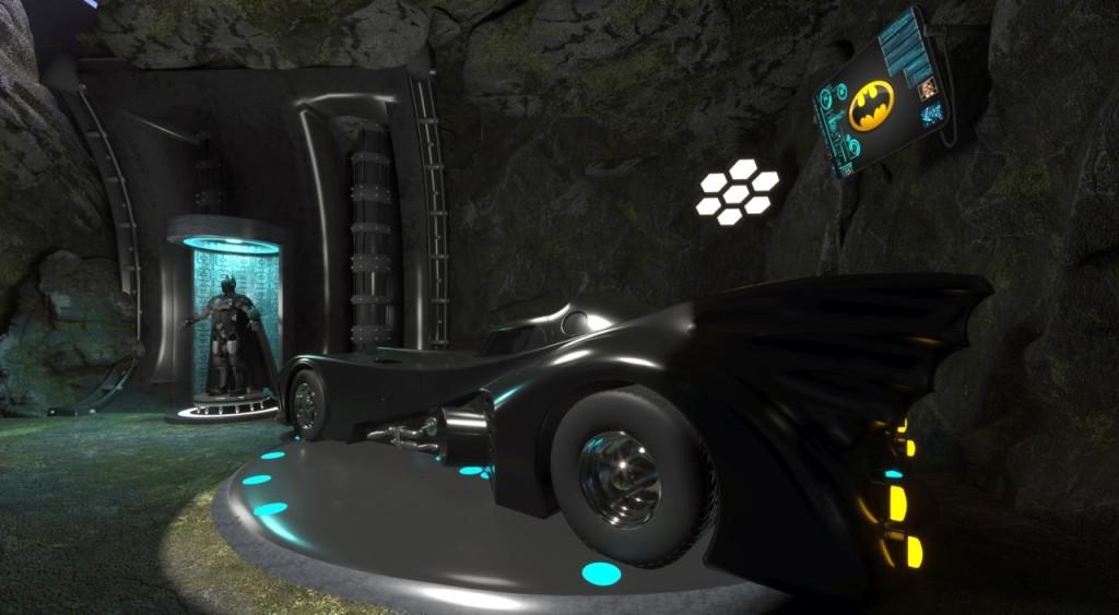 Batmóvel no cenário dedicado ao Batman - foto Divulgação