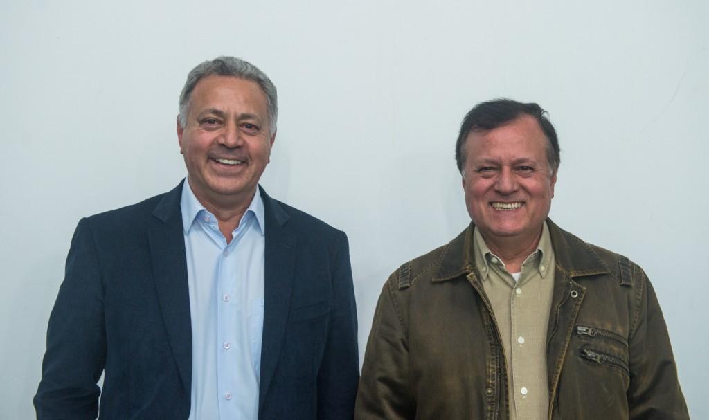 Carlos Silva e Licério Santos, presidente e vice do Comtur. Foto: Marcos Labanca