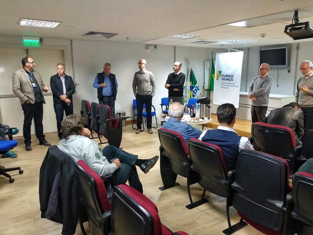 Segundo os representantes de entidades ligadas ao turismo, o Aeroporto Internacional de Foz do Iguaçu será um dos mais modernos do Brasil. Foto: Fundo Iguaçu